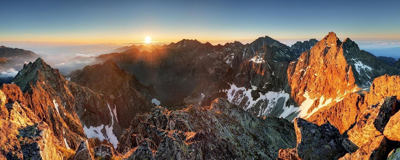Gebirge Sonnenaufgang